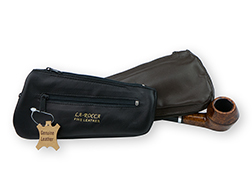La Rocca Leather Pipe Shaped Combination Tobacco Pouch/Pipe/Tool Carrier