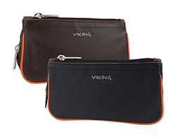Viking Leather Combination Tobacco Pouch/Pipe Carrier