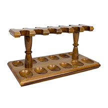 Solid Teak 12-Pipe Rack