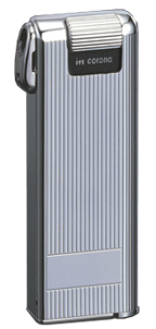 IM Corona Pipe Master Pipe Lighter - 27029 Chrome Engine-Turned Vertical Lines Finish