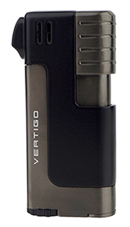 Vertigo Governor Pipe Lighter in Black Matte & Gunmetal Finish