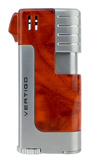 Vertigo Governor Pipe Lighter in Brown Marble & Silver Finish
