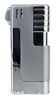 Vertigo Governor Pipe Lighter in Brushed & Polished Silver Finish