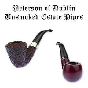 A Choice Assortment of Unsmoked Peterson Pipes Now Available on Our Estate Pipe Page!