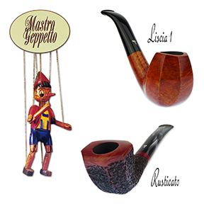 See Our Newest Selection of Mastro Geppetto Liscia 1 and Rusticato Series Handmade Pipes!