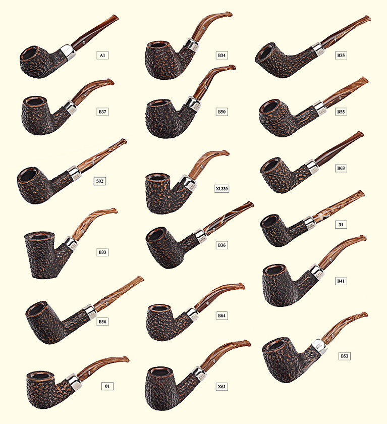 Peterson derry rustic pipe shape chart on 24011
