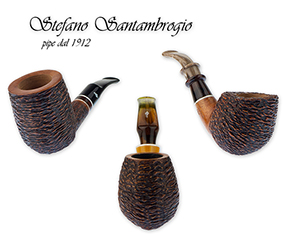 A Handsome Selection of Stefano Santambrogio Handmade Pipes Now Available!