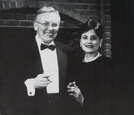 Don and Myriam Roy enjoy a cigar at one of their cigar tasting events.