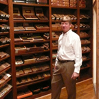 David Meyer In the Cigar Humidor Now Filled Floor to Ceiling with Premium Cigars