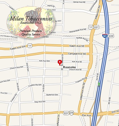 Milan Tobacconists is Located in Downtown Roanoke Virginia Visit